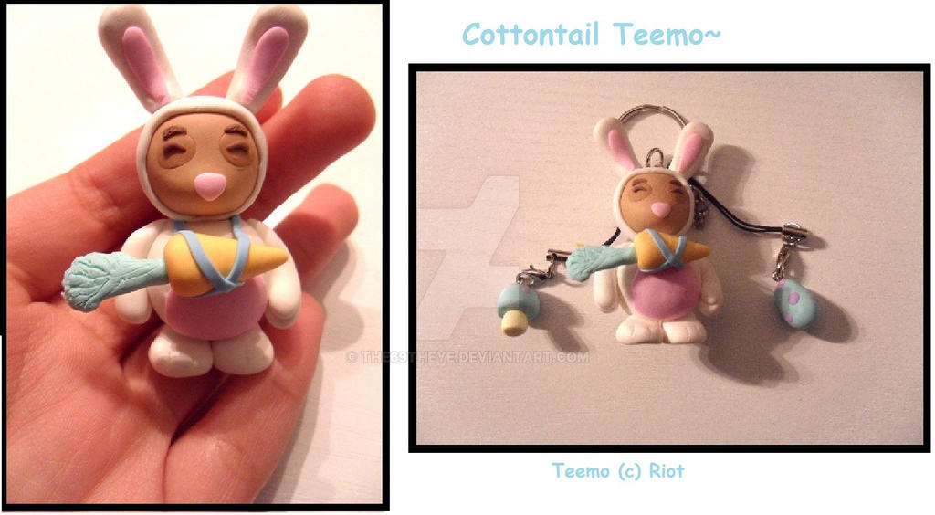 Cottontail Teemo keychain by The69thEye