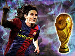 Messi for World cup trophy