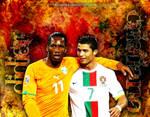 Drogba and Ronaldo