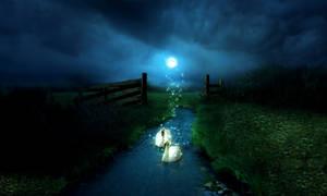 mystical swans_2 by tazwaraz