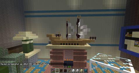 Minecraft Mantel Sailboat