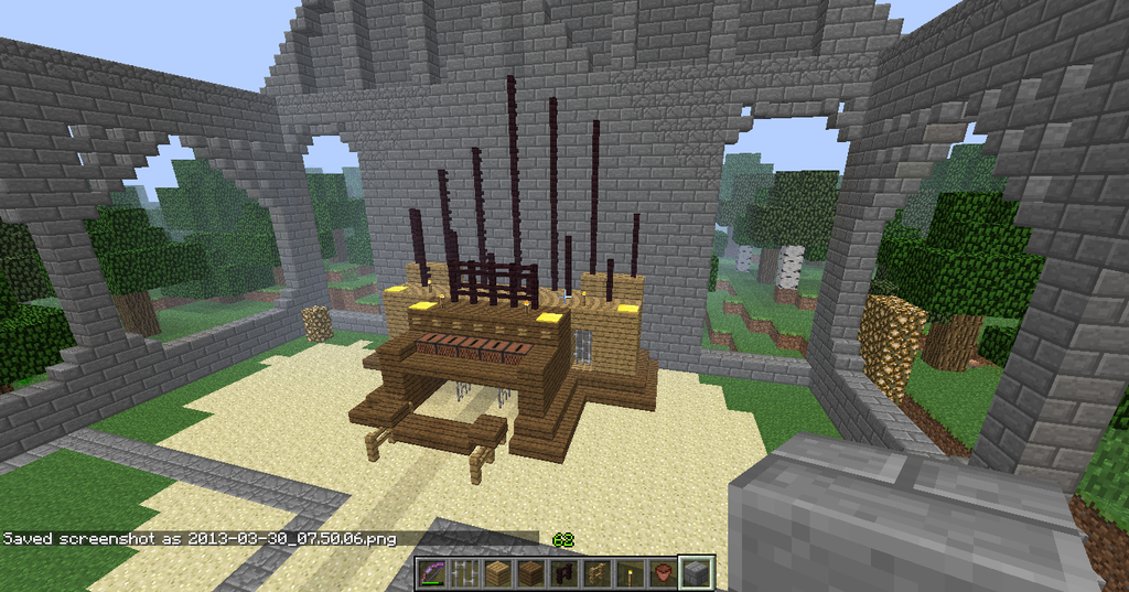 How To Build An Organ In Minecraft