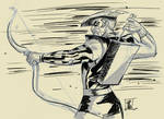 Green Arrow Digital Sketch