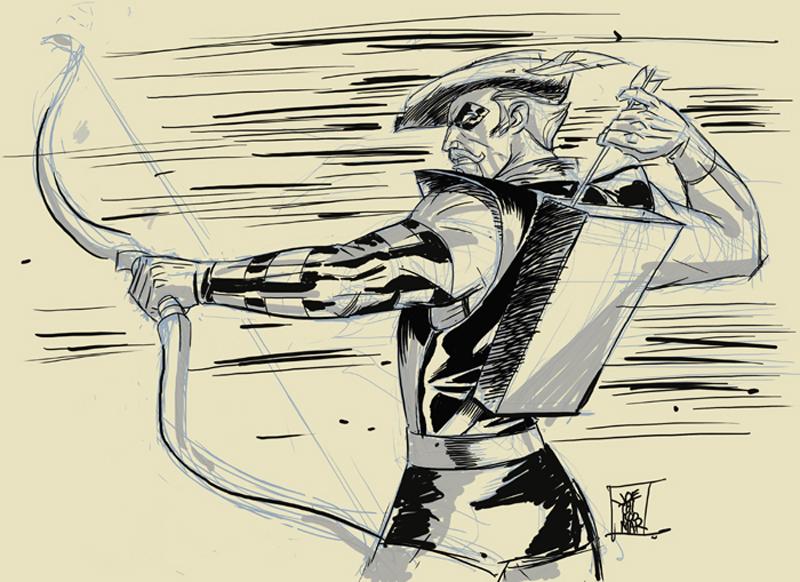 Green Arrow Digital Sketch by hyperjack08