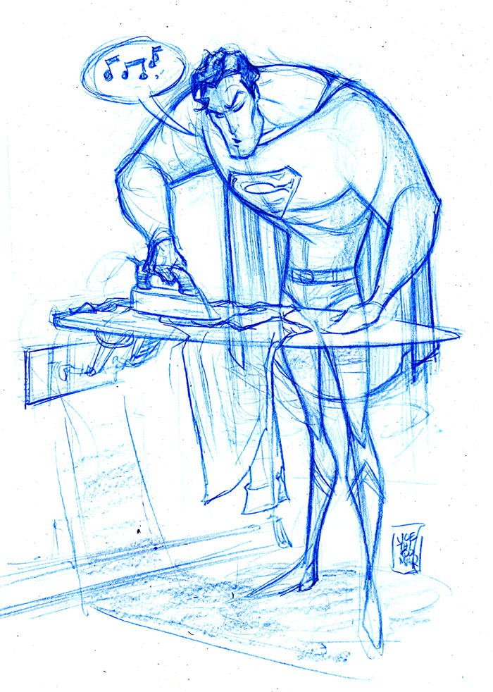 Superman ironing by hyperjack08