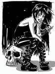 Death Digital Sketch by hyperjack08