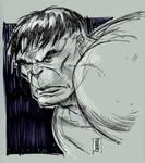 Hulk head sketch