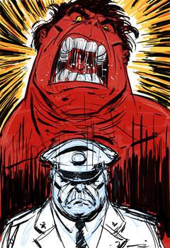 Red Hulk sketch