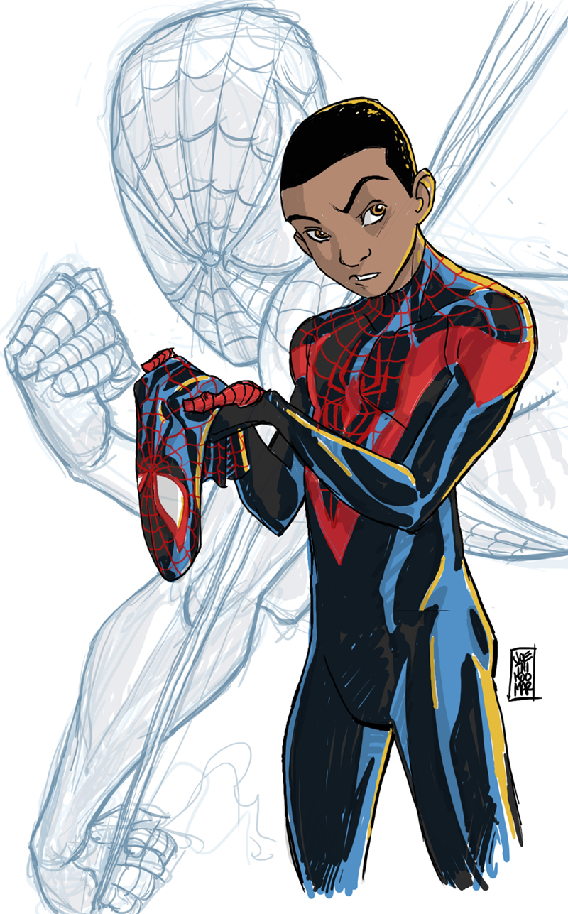 spiderman coloring pages miles morales - photo#30