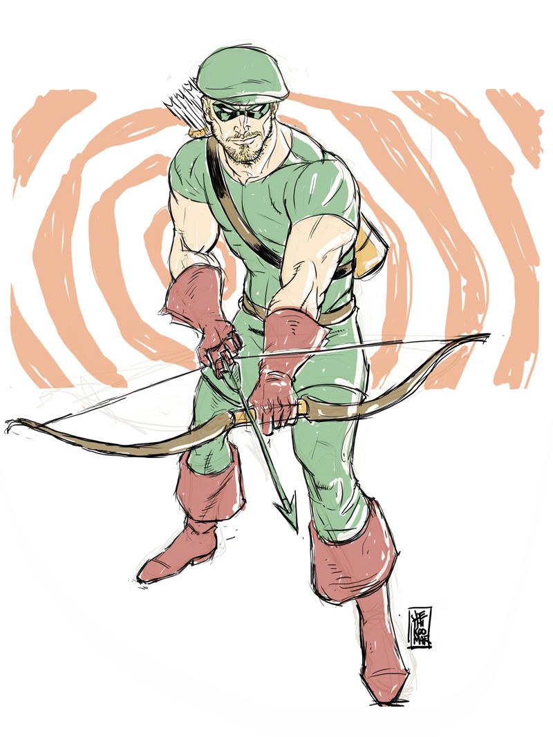 Golden Age Green Arrow digisketch by hyperjack08