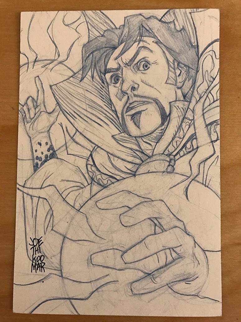 Doctor Strange Sketch Card by hyperjack08