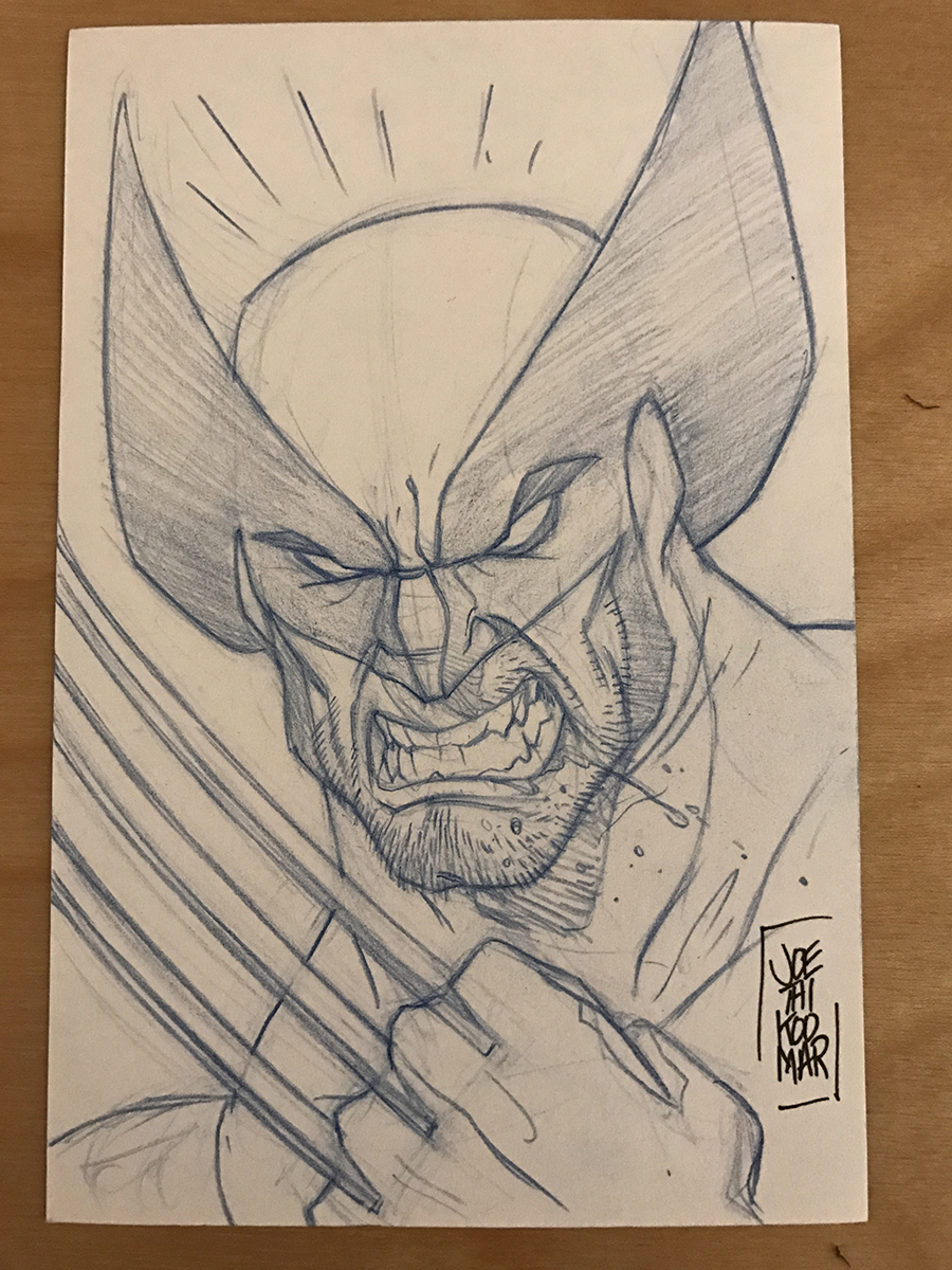 Wolverine Sketch Card by hyperjack08