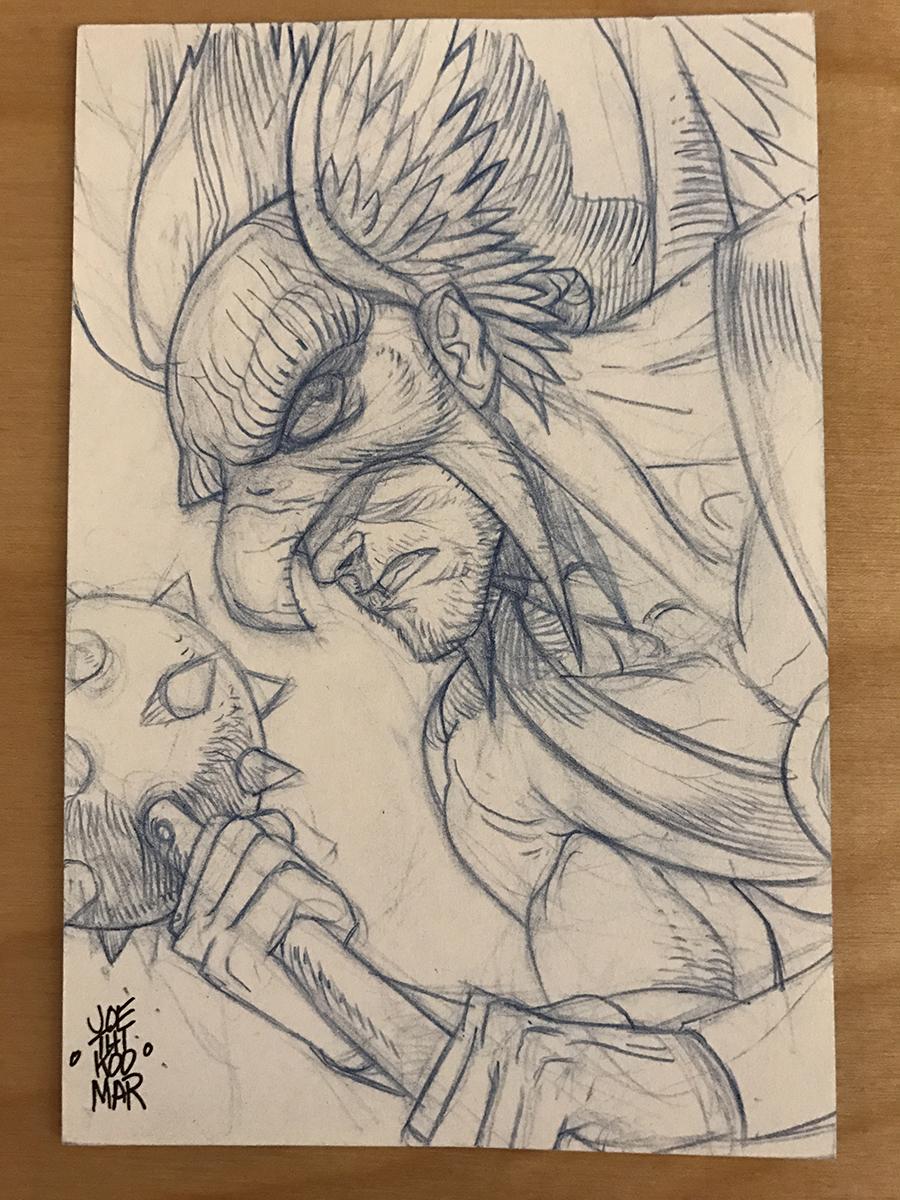 Hawkman Sketch Card by hyperjack08