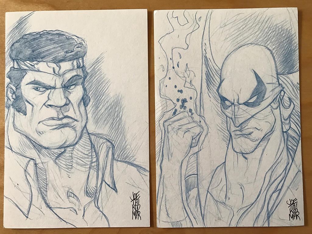 Power man and Iron fist Sketch Card by hyperjack08