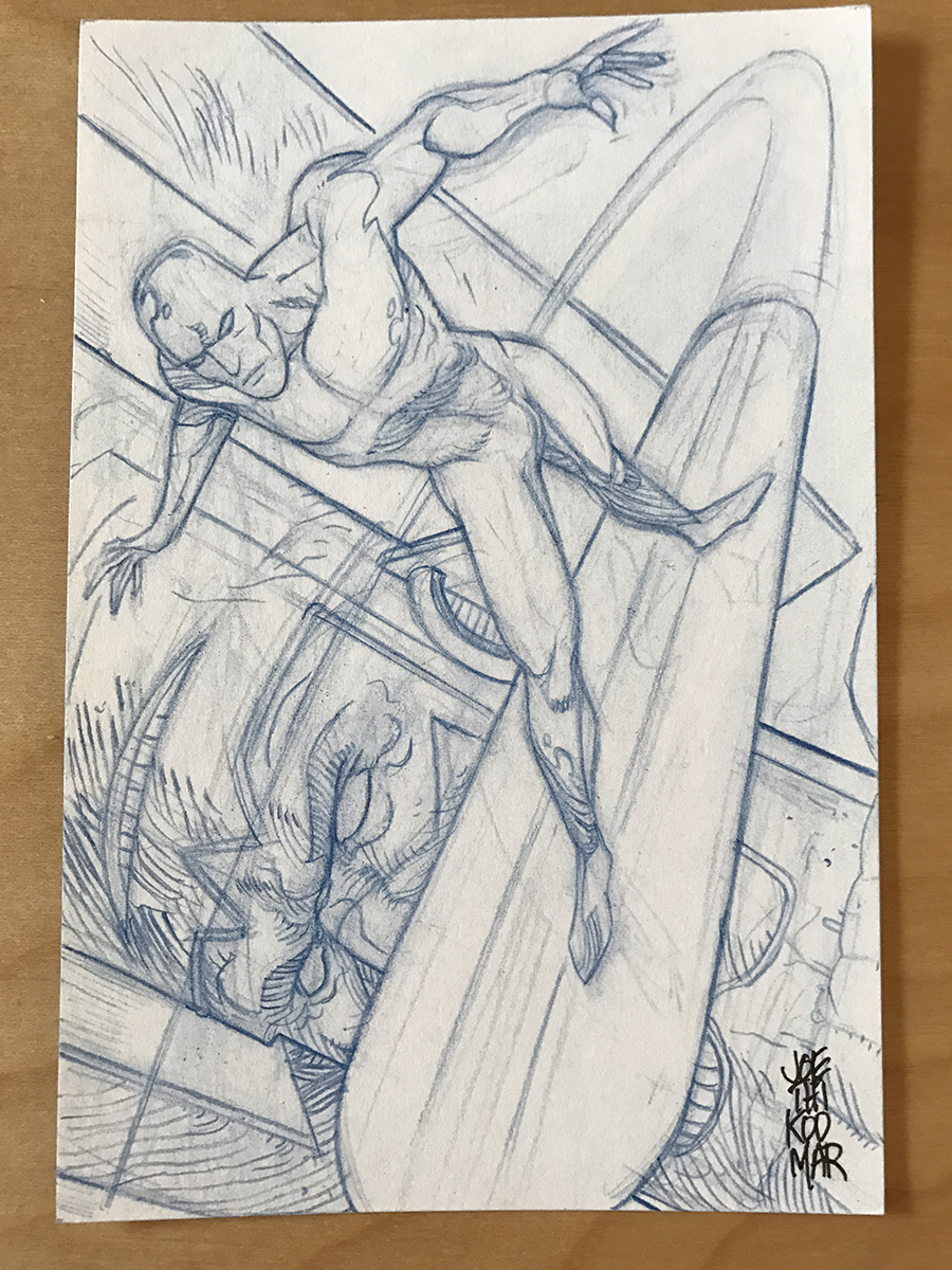 Silver Surfer 2 Sketch Card by hyperjack08