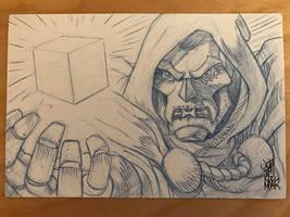 Doctor Doom Sketch Card by hyperjack08