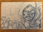 Doctor Doom Sketch Card