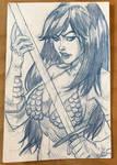 Red Sonja Sketch Card