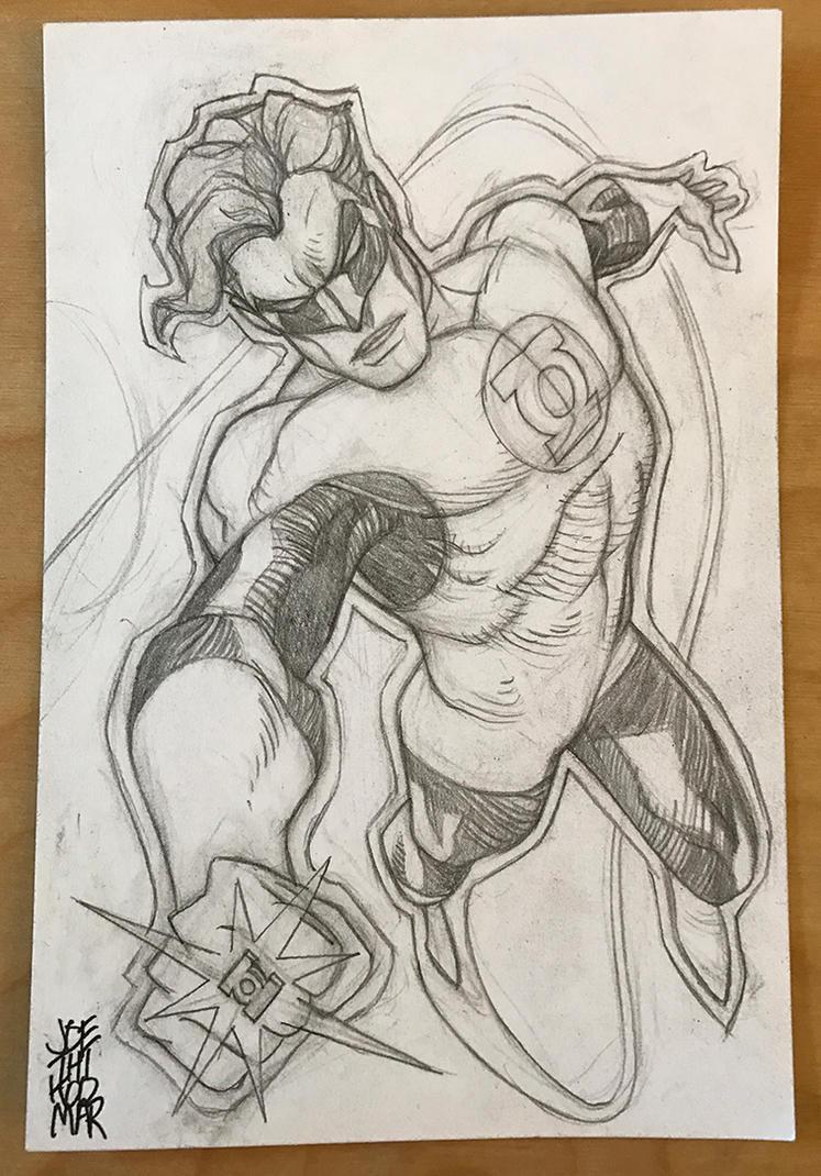 Hal Jordan Green Lantern Sketch Card by hyperjack08