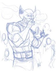 Wolverine Smoking by hyperjack08