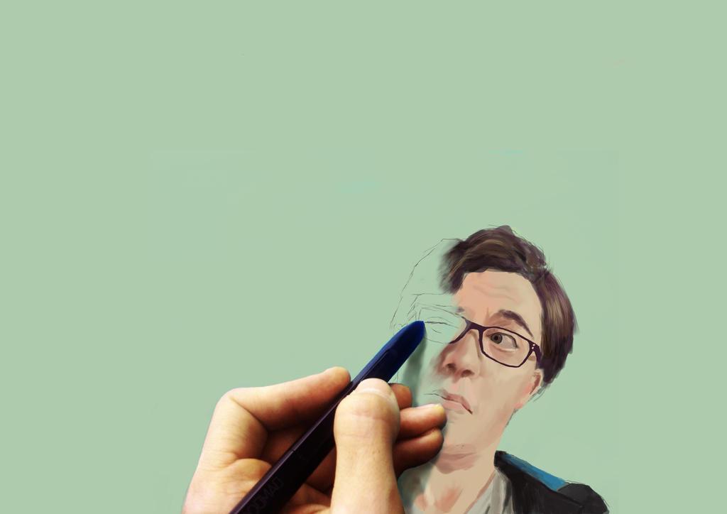 self portrait by davaroglan