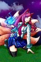 ahri academy fan art by ecb-15