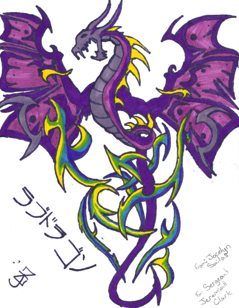 purple dragon of black ice by miyu songiku2010 on deviantart. Black Bedroom Furniture Sets. Home Design Ideas