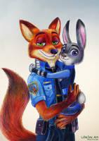 Nick and Judy by LifeJoyArt