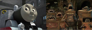 The Boxtrolls' Reaction to Thomas without Paint On