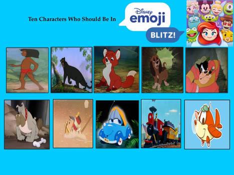 My Top Ten Characters Should Be in Emoji Blitz