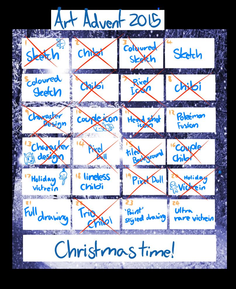 Art Advent Calendar : Art advent calendar by slatemist on deviantart