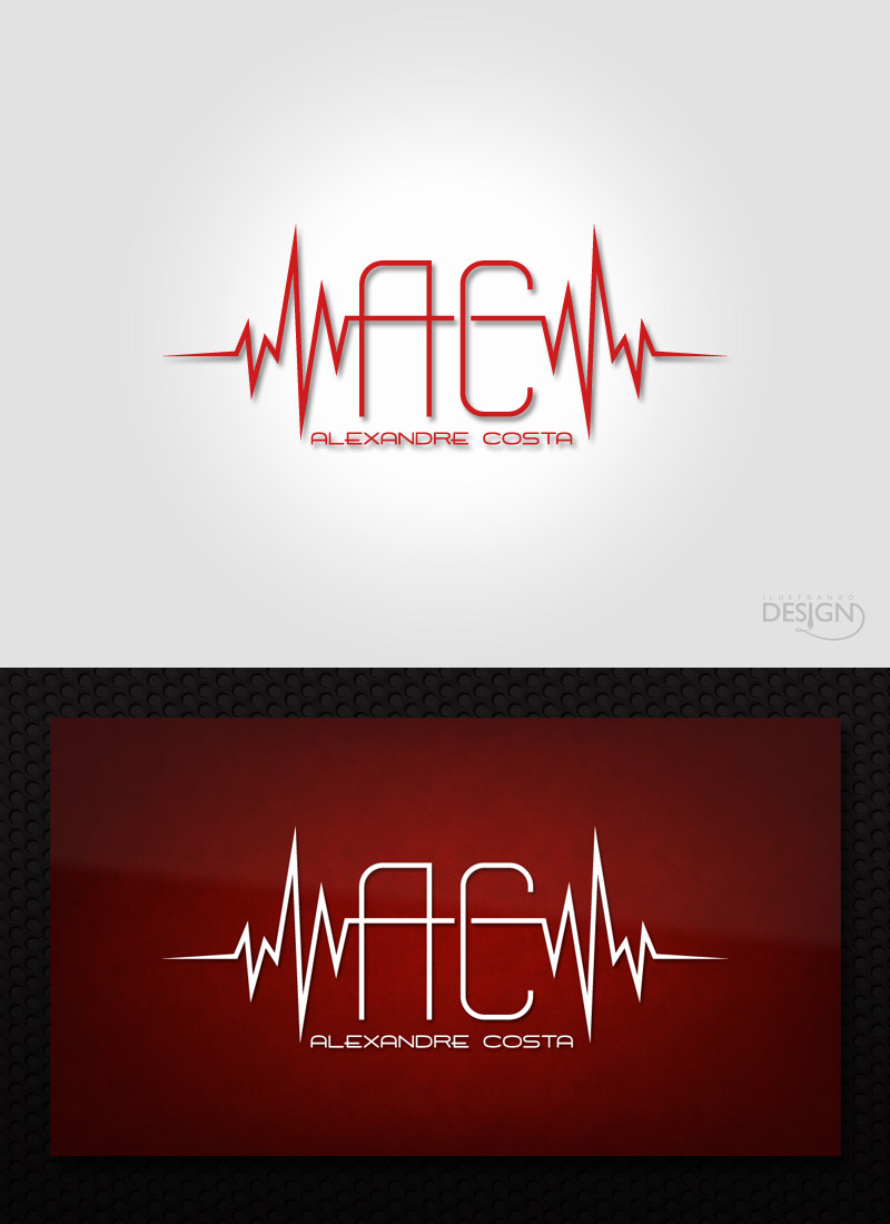 DJ Alexandre Costa - Logo by IlustrandoDesignBR