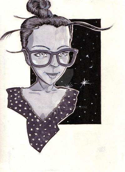 Sketch of a friend by JonasW78