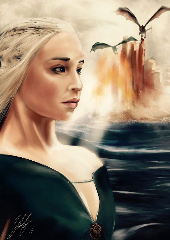 Daenerys Targaryen Game Of Trones by digitalArtistYork