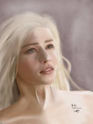 Daenerys Targaryen no 2 by digitalArtistYork