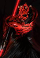 Darth Maul no2. Star Wars by digitalArtistYork