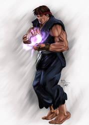 Evil Ryu Street Fight 2 by digitalArtistYork