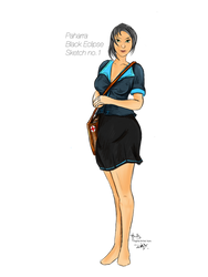 Pharra Phelta (Black Ecilpse) Sketch 1 by digitalArtistYork