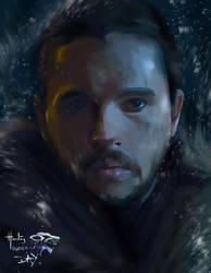 Jon Snow of Game of Thrones by digitalArtistYork