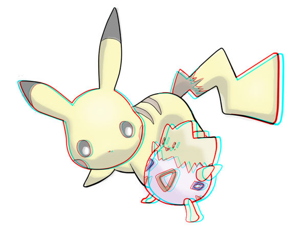3D pikachu - anaglyph by DunnyCT on DeviantArt