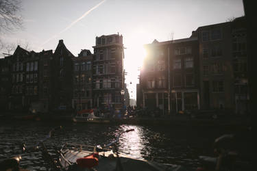 amsterdam / sunset by auroille