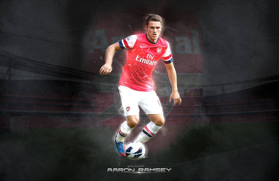 Wallpaper Aaron Ramsey by TheCristinaChuck on DeviantArt