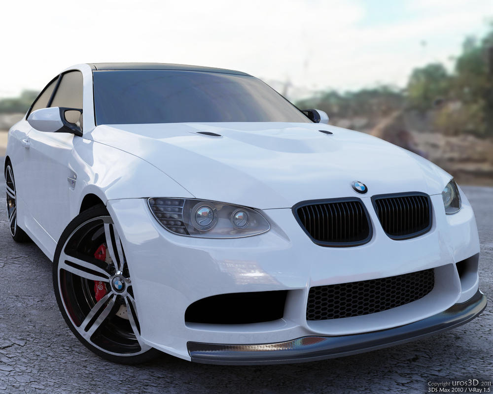 BMW M3 e92 outdoor by uros3D