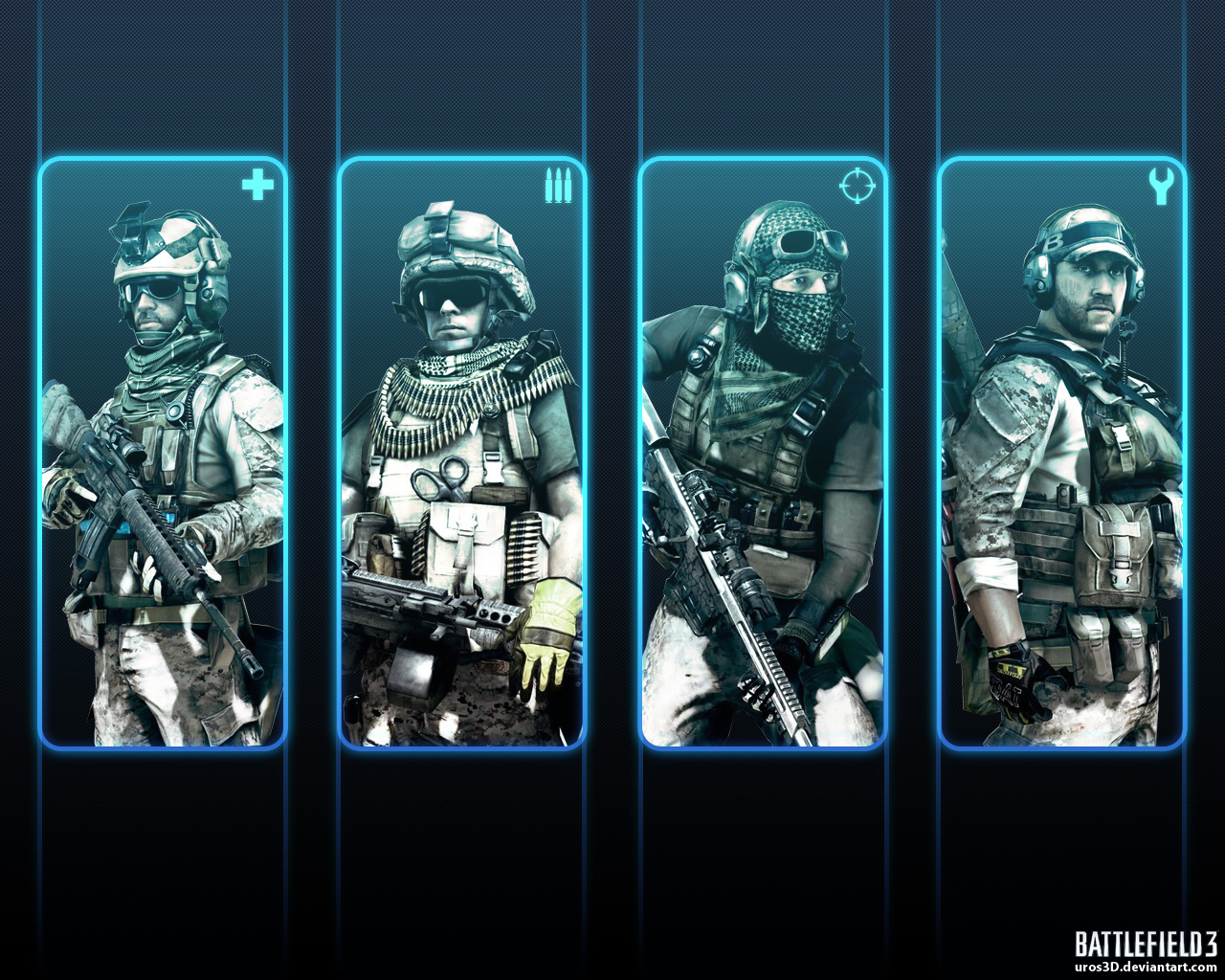 Battlefield 3 - Know Your Role by uros3D