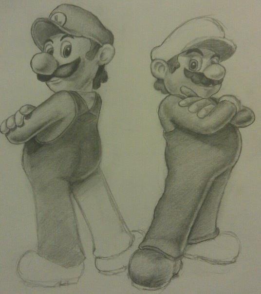 Mario and luigi by Alba-55