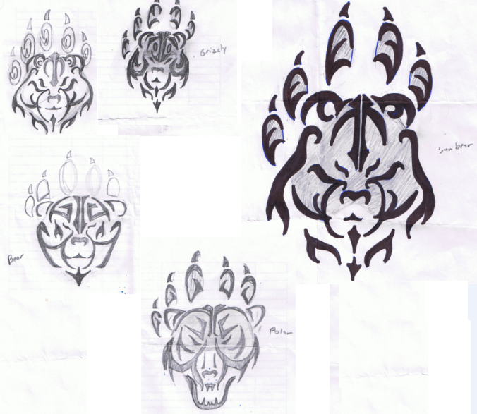 tribal bear tattoo rejects by karianasan on deviantart. Black Bedroom Furniture Sets. Home Design Ideas