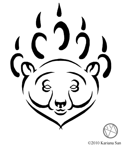 tattoo bear. Tribal Polar ear Tattoo by