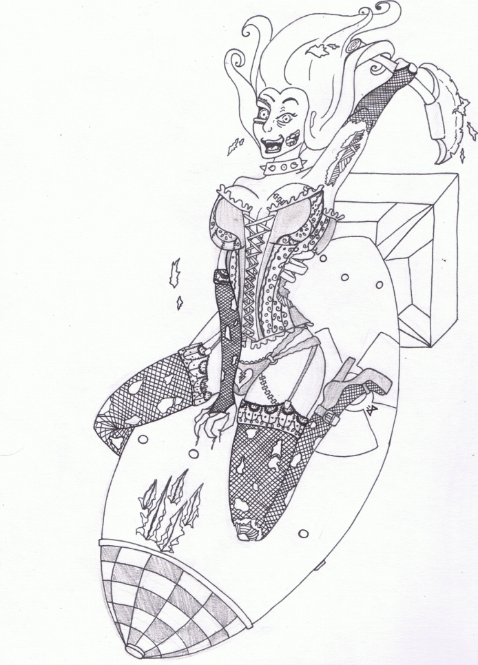 zombie pin up girl by karianasan on deviantart. Black Bedroom Furniture Sets. Home Design Ideas