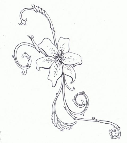 Tiger Lily Tattoo by KarianaSan on DeviantArt