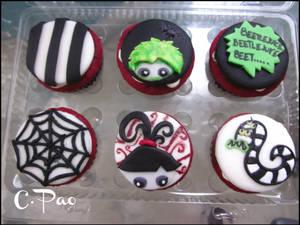 Beetlejuice Cupcakes